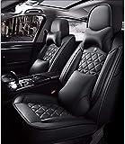 DTTN Coprisedili per Auto coprisedili per Auto universali Set per BMW 1 3 5 7 Serie X1 / X3 / X5 / X6 coprisedili per Auto in Pelle Artificiale Accessori per Auto, Lusso Nero