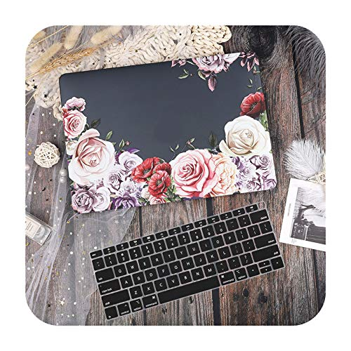 Marble Flower Pattern Laptop Case Keyboard Cover for New MacBook Pro 13 2020 A2338 Air 13.3 15 inch Retina Touch Bar A2251 A1932-X042A-Air 11 A1370 A1465