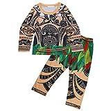 iiniim Pijama Niño Conjuntos de Tops y Pantalones Ropa de Dormir para Invierno/Verano Algodón Manga Larga/Manga Corta para Niños Chicos A Manga Larga 4-5Años