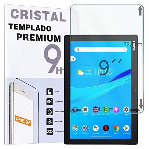 REY Protector de Pantalla Universal 9', Cristal Vidrio Templado Premium, Táblet, Medias 22,2 x 13,3cm