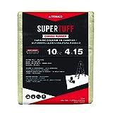 Trimaco SuperTuff 10 oz thick Heavyweight Canvas Drop Cloth, 4-feet x 15-feet