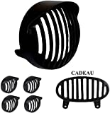 Cadeau Bajaj Avenger Bike Headlight Grill 6 Set Combo Pack (Black)