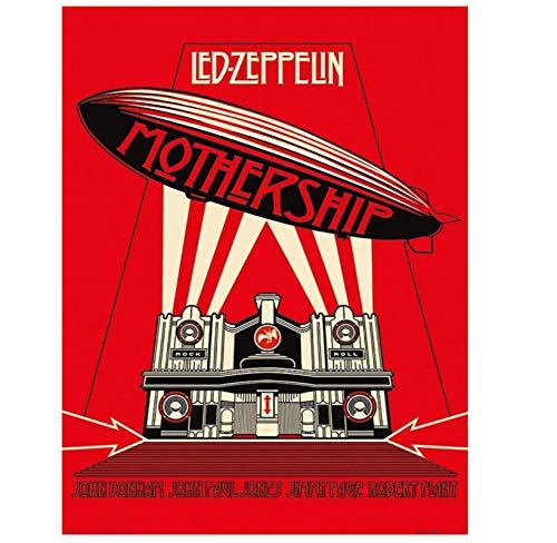 Mothership-Led Zeppelin carteles populares lienzo arte impresión sala de estar decoración del hogar regalo impresión en lienzo-50x70 cm sin marco