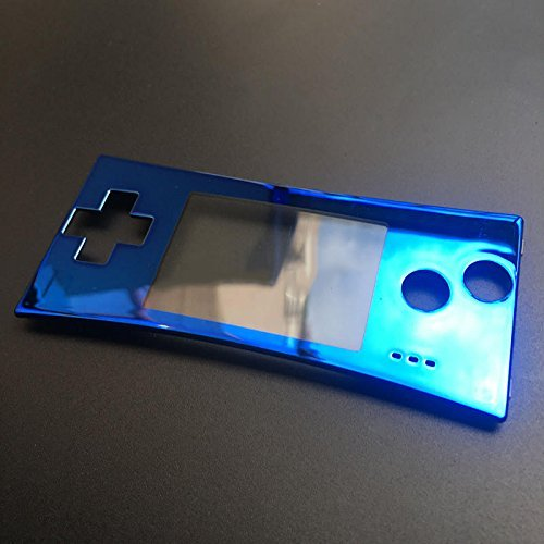 Front Upper Faceplate Shell Cover Panel Case Replacement For GBM For Nintendo GameBoy Micro Chrome Blue
