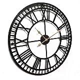 WSI Reloj de Pared Grande, Reloj de Pared Vintage Reloj Silencioso Reloj Decoración para Hogar Cocina Salon Oficina Comedor Habitación, Cocinas, Dormitorios, Oficinas, etc / 80CM