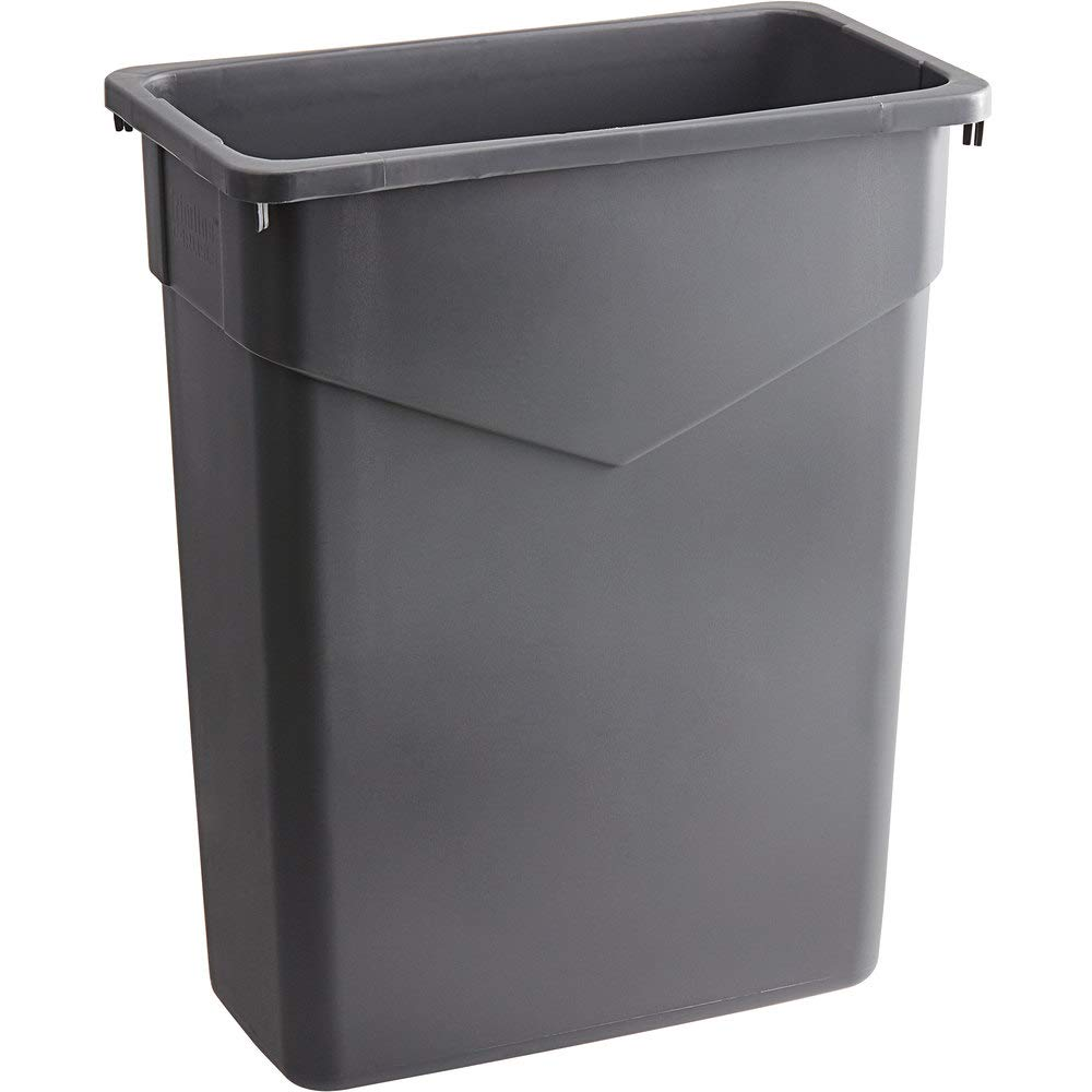 5 Pack 60 Qt. 15 Gallon Liters Manufacturer direct delivery Rectangular 57 Gray Slim Mail order Tra