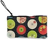 Flyup Japanische regenschirme Farben leinwand geldbörse Unisex ändern Beutel Mini Brieftasche schlüsselhalter Karten veranstalter mit reißverschluss für Frauen und männer Casual daypacks