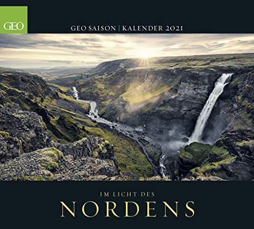 GEO SAISON: Im Licht des Nordens 2021 - Wand-Kalender - Reise-Kalender - Poster-Kalender - 50x45