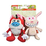 Nickelodeon for Pets Ren & Stimpy 6 Inch 2 Piece Dog Toy Set | Soft and Plush Dog Toys from Hit Nickelodeon 90s TV Series The Ren & Stimpy Show | Plush Figure Dog Toys for All Dogs