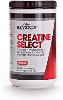 Beverly International Creatine Select with Phosphates, 40 servings. Since 2003, the only fail-proof creatine formula. Boosts muscle size and strength every time. For men and women. Tastes like Tang!