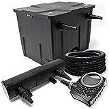 Kit de Filtration avec Bio Filtre 12000l, 36W UV Stérilisateur, 80W Pompe et 25m...