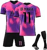 Paris Saint-Germain 2021, Neymar 10# / Neymar 11# Mbappé 7# / Camiseta de fútbol para niños(Size:Pequeña,Color:Backn11)