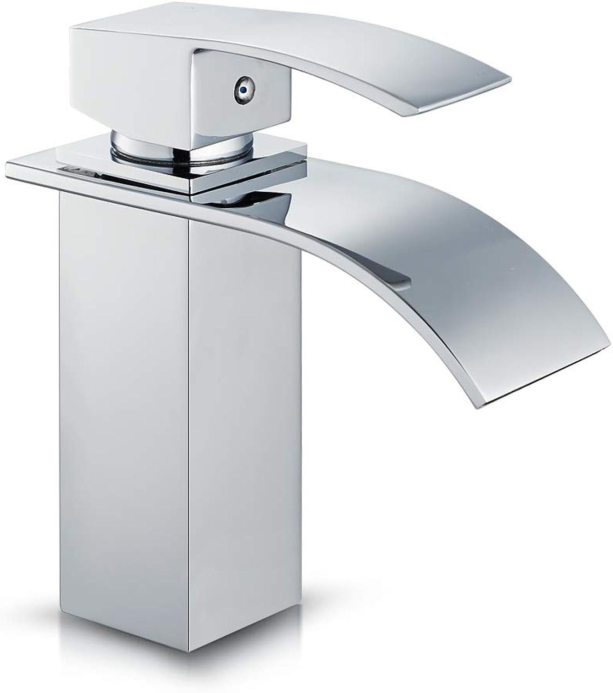 Auralum? for Kitchen and Bathroom Brass Waterfall Basin Mixer Tap Chrome