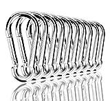 MyIdeaz Karabinerhaken 10 Set, Karabiner bis 230kg, Schlüsselanhänger Karabinerhaken für Hängematten, Camping, Wandern, Angeln