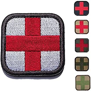Morton Home-Cross 50mm Tactical Hook & Loop Patch - Medic (White)