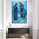 WJY Tragödie Pablo Picasso Wandkunst Leinwand Poster Und
