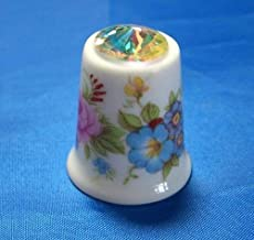 Humming Bird with Swarovski Crystal Birchcroft China Thimble Free Dome Box