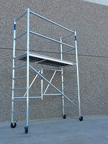 Andamio Plegable Aluminio altura 3,85 (Ampliable)