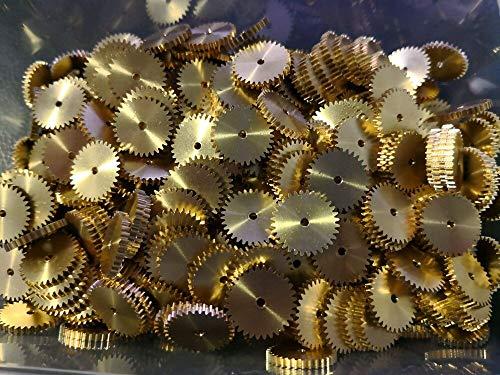 Yongenee 2X 0,5 M 26/30/32/40/44 Dientes de Engranaje 2 mm de Espesor Hole Cobre Engranaje pequeño 1,98 2,02 3,98 4,02 4,98 5,02 mm diámetro del Agujero Herramienta