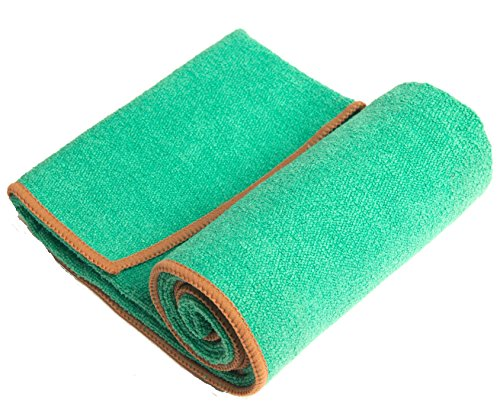 "YogaRat Hand Towel - 100% Microfiber Hand Towels - Place Beside Your Mat During Practice - Wipe Sweat from Face and Hands During Exercise - Complements Your Yoga Mat Towel - 15"" x 24"""