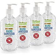 Hand Sanitizer Gel (4 Pack x 16.9oz) - 75% Alcohol - Kills 99.99% of Germs - Scent Free Antibacterial Gel with Vitamin E & Aloe for Moisturizing