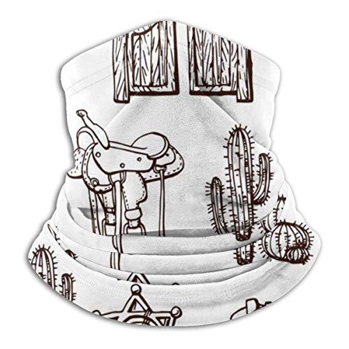 Lzz-Shop Wild Westen kraagwarmer – hoofdband voor hoofddeksel, slangsjaal, sportsjaal