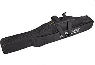 Toasis Fishing Rod Carrier Bag Fishing Pole Carrying Case for Travel Black Color