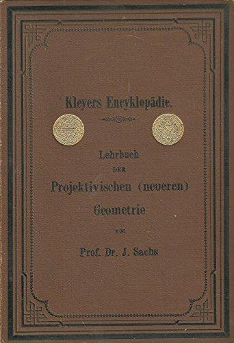 Lehrbuch der Projektivischen (neueren) Geometrie. (Synthetische Geometrie, Geometrie der Lage). Dritter Teil: Pol und Polare - Mittelpunktseigenschaften. Involution - Brennpunkteigenschaften der Kurven zweiten Grades.