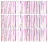 AILEXI 3 Pack Metallico Tinsel Tende Foil Frangia Shimmer Streamer Tenda Porta Finestra Decorazione della Parete della Finestra per Il Compleanno Forniture Festa di Nozze 3ft * 3ft - T Multicolor