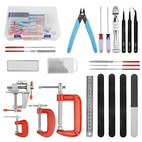 WMYCONGCONG Kit de herramientas modelo Gundam de 23 piezas para reparación de modelos de coche Gundam profesional