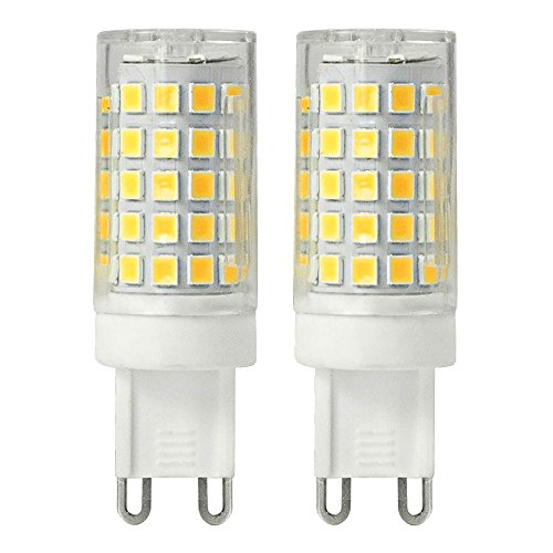 Daskoo | Luce LED, anti sfarfallio, G98W = 60W ceramica e policarbonato bianco caldo 64X 2835SMD AC 220-240V | Confezione da 2
