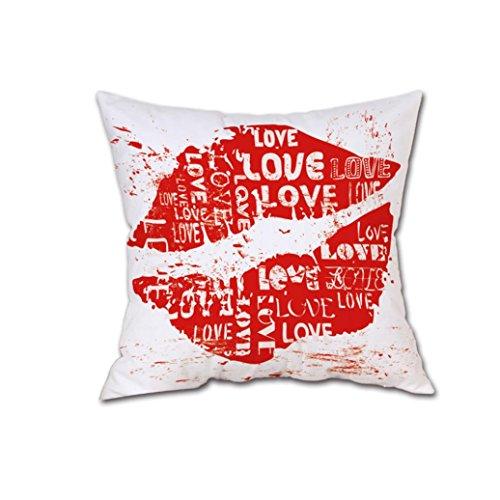 LONUPAZZ Happy Valentine Taie d'oreiller Housses De Coussin Lin De Drap De Canapé DéCor À La Maison