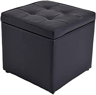 FSQY storage stool seat stools with lids change shoe stool sofa stool solid wood simple fashion living room bedroom 30cm 30cm 35cm black