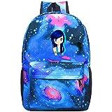 352 Its-Funneh Unisex Rucksack, schöne Laptoptasche, wasserdicht, für Reisen, Schulranzen für Männer und Frauen, blau, Einheitsgröße