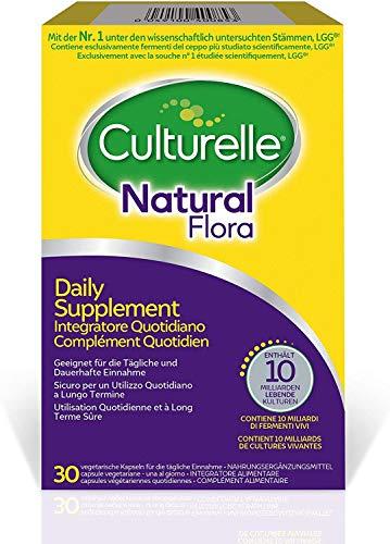 Culturelle Natural Flora Nahrungsergänzungsmittel 30 Kapseln - 10 Milliarden Bakterienkulturen- Lactobacillus Rhamnosus GG - 30 Tage Versorgung
