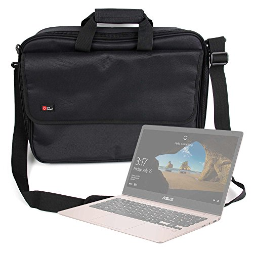 DURAGADGET Maletín Negro para Portátil ASUS Laptop X507 / ASUS ROG Strix SKT T1 Hero Edition/Acer Nitro 5 (AN515-42) / Acer Spin 3 SP315-51 - Múltiples Compartimentos