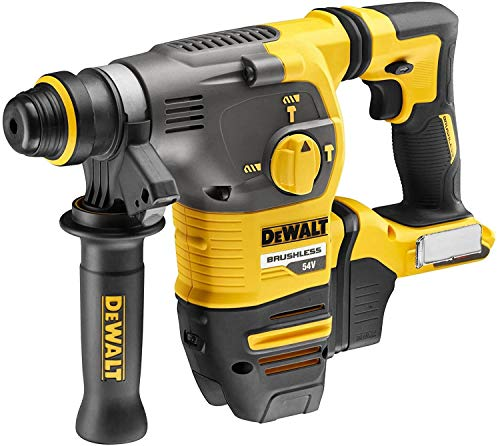 DeWALT Martillo combinado DCH323NT-XJ SDS-plus, 54 V, base de 54 V, color negro/amarillo, 43 x 31,5 x 30 cm