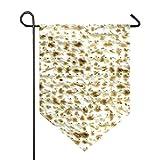 AMONKA Bandera de jardín de pan sin levadura de Happy Passover de doble cara de poliéster para decoración de casa al aire libre de 28 x 40 pulgadas