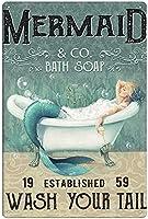 30*40cm金属看板トイレバスルームトイレ金属塗装クリスマスギフト男性ギフト女性ギフト(1-t-181)