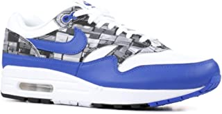Mens Air Max 1 Print White/Game Royal-Grey Size 9