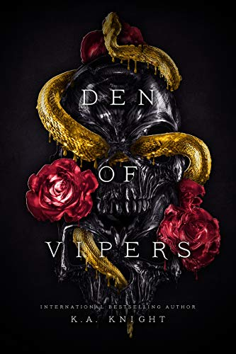 """alt=""""Ryder, Garrett, Kenzo, and Diesel—The Vipers.  They run this town and everyone in it. Their deals are as sordid as their business, and their reputation is enough to bring a grown man to his knees, forcing him to beg for mercy. They are not people you mess with, yet my dad did. The old man ran up a debt with them and then sold me to cover his losses.  Yes, sold me.  They own me now.  I'm theirs in every sense of the word. But I've never been meek and compliant. These men, they look at me with longing. Their scarred, blood-stained hands holding me tight. They want everything I am, everything I have to give, and won't stop until they get just that. They can own my body, but they will never have my heart.  The Vipers? I'm going to make them regret the day they took me.  This girl? She bites too.   *18+ Reverse Harem Romance. Warning this book contains scenes and references of abuse/assault that some readers may find triggering. Along with graphic sex scenes and violence. This is a dark book*"""""""