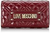 Love Moschino JC5633PP0BKA0, Portafogli Donna, Vino, Normale