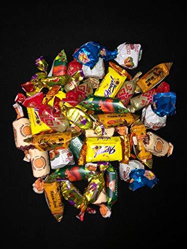 Mischung aus 7 unterschiedlichen russischen Pralinen Konfekt - typische Variation aus diversen Pralinen - authentisches Konfekt mit Schokolade aus Russland