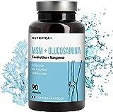 Glucosamina Complex con Condroitina MSM | Suplemento Antiinflamatorio Natural | Fabricado en Francia | Fortalece Huesos Articulaciones y Cartílago | Alivia Dolor Muscular