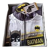 Batman Tuta Bambino con Apertura a Zip Felpa Cotone Colore Grigio Taglie 4-5-6-7 Anni (6 Anni)