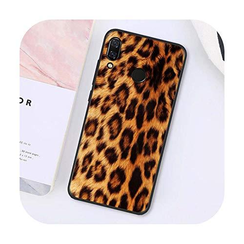Hopereo Caja del teléfono de la impresión del leopardo animal de la manera para Xiaomi para Redmi Note 7 8T para Redmi 5Plus 6A Note4 4X A2 A2Lite-A5-Para Redmi 8