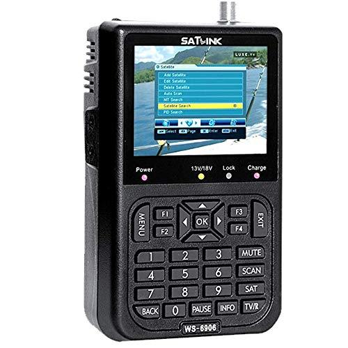 Liobaba Portable JS-SF06 Digital LCD Satellite Finder Signal Strength Meter Satellite Signal Searcher TV Satellite Detector Tool