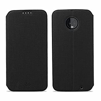 Moto Z3 Play Case Wallet Case Flip Folio Magnetic Cover Stand Kickstand Card Slots Bumper PU Leather Soft TPU Slim Fit Anti-Scratch Protective Shell Skin Protector for Motorola Z3 Play - Black