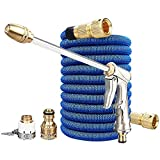 FABSELLER Garden Hose Expandable Water Hose with High Pressure Water Gun Adjustable Spraying