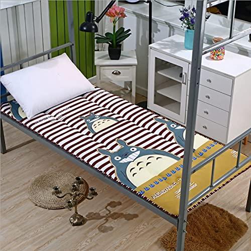 DNGDD Colchón de Suelo Colchón de futón japonés, Cama Plegable de Espuma viscoelástica Enrollable Colchón de Camping Tumbona de Suelo Sofás y sofás Colchón para colchón, 90 cm × 190 cm